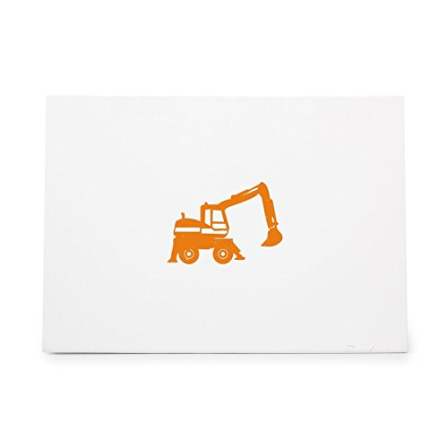 (Excavator Claw Construction Crane Digger Style 9752, Rubber Stamp Shape great for Scrapbooking, Crafts, Card Making, Ink Stamping)