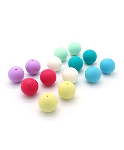 RUBY-Lote 20 Bolas de Silicona de Ø 18mm Colores Mixtos para DIY Mordedores chupetero