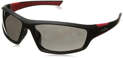 Ironman Men's Dextro Wrap Sunglasses, Black Rubberized, 65 mm