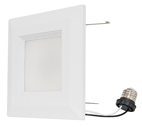 Westgate 15 Watt 6'' Inch Recessed Lighting Kit With Baffle Trim - Square Shaped LED Retrofit Downlight - Premium Dimmable Light Fixture - Best Ceiling Lights - ETL Listed (4100K Cool White, 8 Pack) by Westgate (Image #2)