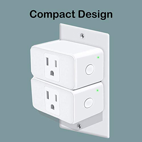 IoTeck Meross Premium WiFi Smart Plug Mini, Remote Control from Anywhere,  No Hub Needed, FCC and ETL Complied, Compatible with Alexa and Google
