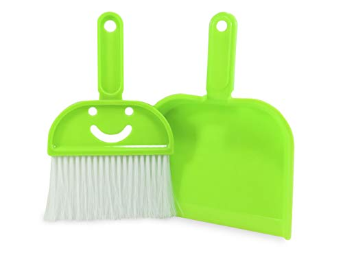 Neon Green Wastebasket Plastic with Dustpan and Brush 1.5 Gallon 9.75 Inches Tall - The Happiest Wastebasket and Dustpan on Earth (3 Piece Set) by Daiso Japan (Image #2)
