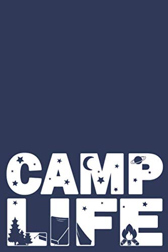 Camp Life: Blue Summer Camp Journal Sketchbook | Keepsake For Writing Memories, Drawing, Autographs, and Notes