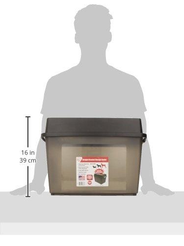 Alimentador elevado grande IRIS con almacenamiento hermético, negro
