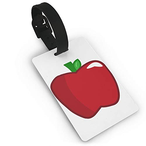 Mini Luggage Tag Red Apple PVC Business Card Holder for Baggage Bag Name Address ID Label Travel Identifier Accessories