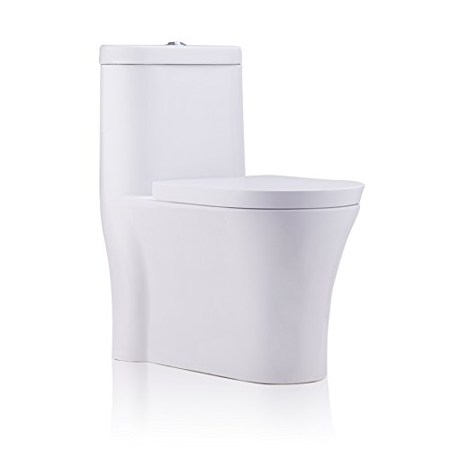 CO-Z Siphonic Dual Flush Toilet One-Piece Construction with...
