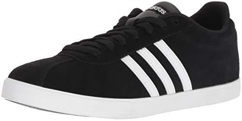 Suede Women Shoes - adidas Women's Courtset Sneaker, Black/White/Matte Silver, 8 M US