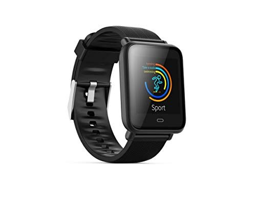 TOP-MAX Smart Watch, Fitness Tracker Bluetooth with Heart Rate Monitoring,Blood Pressure Test,Sedentary Reminder,Sleep Monitoring,Pedometer,CE
