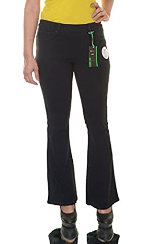 Style & Co. Women's Pull-On Flare Jeans (Small Short, Black Rinse) - Co Black Denim