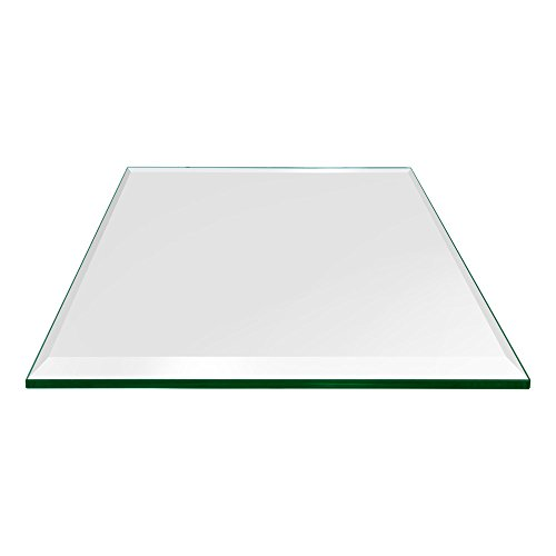 Dulles Glass and Mirror Square Glass Table Top 1/2'' (12mm) Thick Beveled Polish Edge Eased Corners, Tempered, 20'' Inch, Clear by Dulles Glass and Mirror (Image #6)