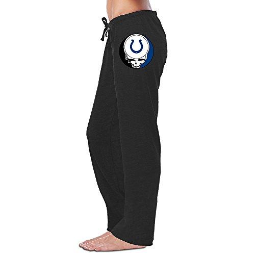 ElishaJ Women's Indianapolis Sport Football Logo Cool Sports Sweaterpants Black L