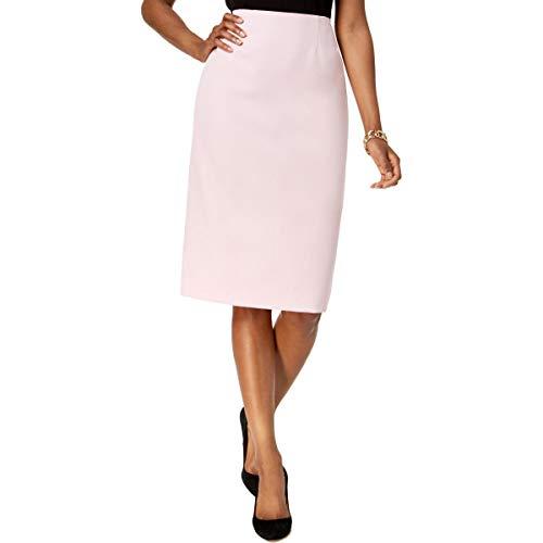 Kasper Women's Stretch Crepe Skimmer Skirt, Tutu Pink, 6 ()