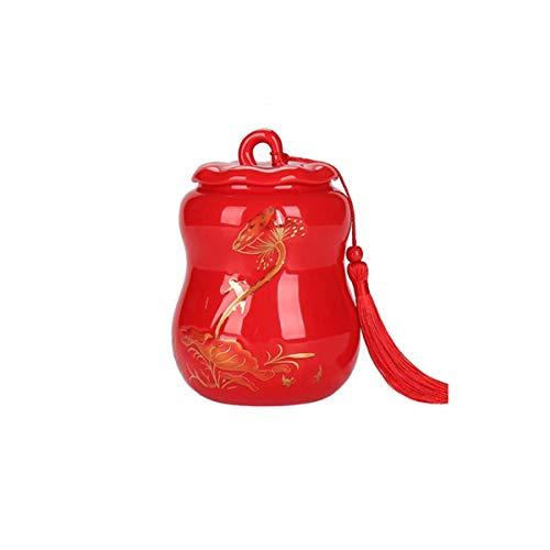 - Creative Celadon Casket, Ceramic Sealed Casket, Gourd Ornaments, Sealed Cans, Sealed Coffins, Ceramic Boxes, Pet Boxes, Pet Souvenirs, Pet Cremation Boxes, Pet Ashes Souvenirs, (Color : Lotus Red)
