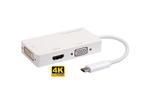 Cynergy USB C to 4Kx2K HDMI DVI and VGA Multiport Adapter...