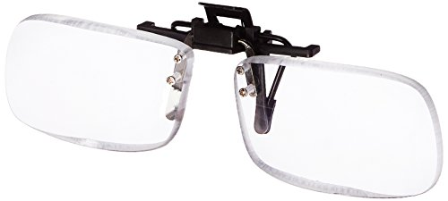 Magna Flip Clip on Flip up and Down Reader Magnifiers, Converts Distance Glasses and Sunglasses Into Reading and Computer Glasses, +5.00 Power