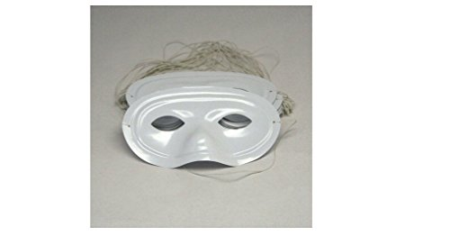 Half Style Mask (Plastic White Half Masks : package of 24)