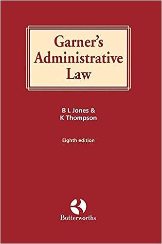 B. L. Jones - Garner's Administrative Law