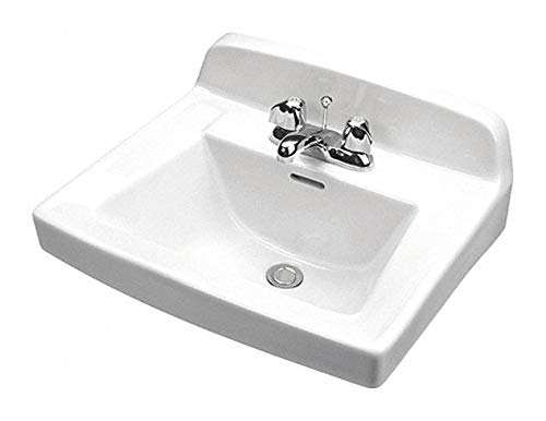 (Gerber Vitreous China Wall Hung Lavatory Sink Without Faucet, 15