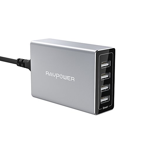 Designed by Studio F. A. Porsche RAVPower 40W 4-Port USB Charger Charging Station with iSmart Technology (Ravpower Usb Charging Station)