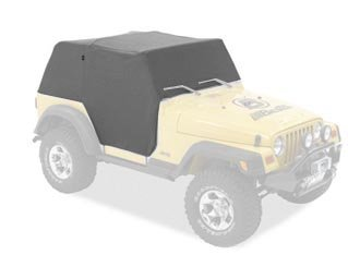 Bestop 81038-09 Charcoal All Weather Trail Cover for 2004-2006 Wrangler TJ Unlimited ()