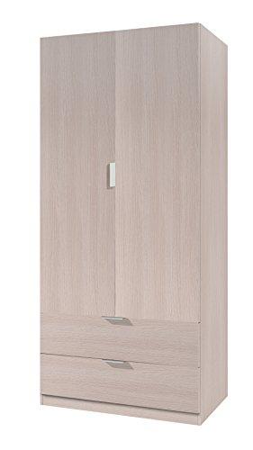 VITO Armoire 2 portes 2 tiroirs 81x85cm chene