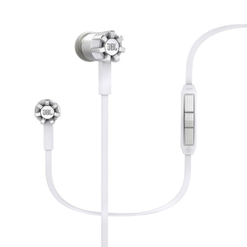 JBL Synchros S200I In-Ear Headphones with 3-Button Remote and Mic for use with Apple Devices - White by GadgetCenter