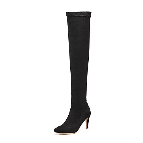 Balamasaabl09781 - Sandales Compensées Pour Femmes, Noir (noir), 35 Eu