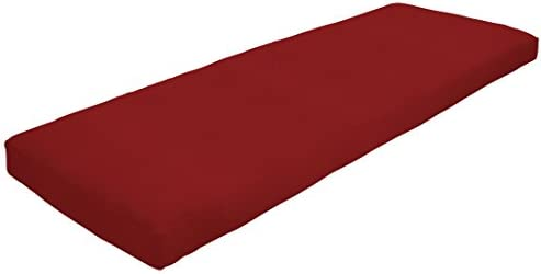 Amazon Custom Furnishings x Easy Way Products 20581 Custom Zipped Knife Edge Bench Cushion, 47 x 15 x 2.5 Sunbrella Canvas Jockey Red