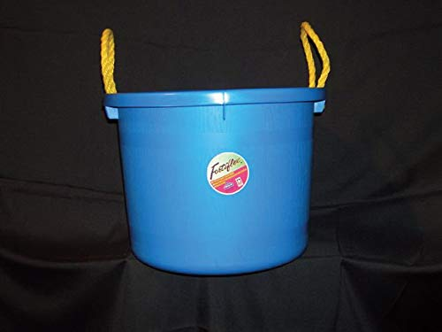Fortiflex Multi Purpose Storage Bucket for Dogs/Cats and Horses, 40-Quart, Blue by Fortiflex