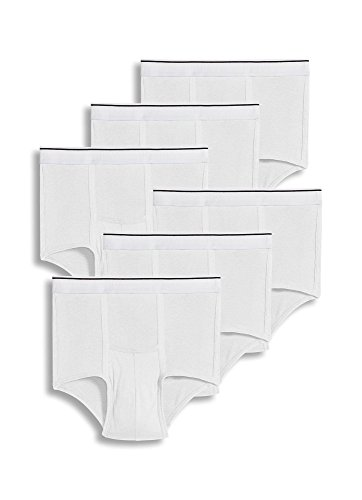 Jockey Men's Underwear Pouch Brief - 6 Pack, White, L