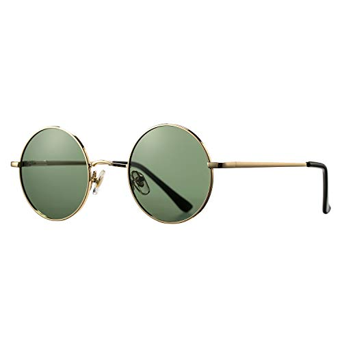Pro Acme Retro Small Round Polarized Sunglasses for Men Women John Lennon Style