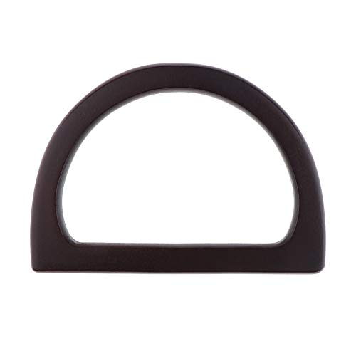 - Prettyia DIY Wooden Purse Bag Handle Handbag Accessories Wood Frame Evening Clutch Handle Part - Black
