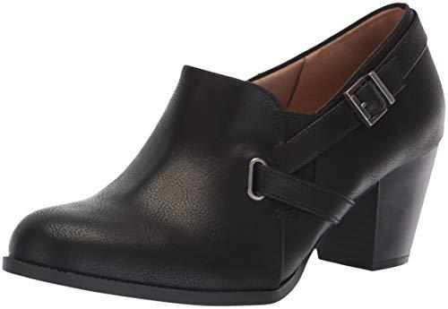 LifeStride Women's Jenson Ankle Boot, Black, 6.5 W US