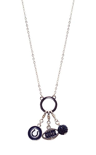 NFL Indianapolis Colts Three Charm Logo Necklace ()