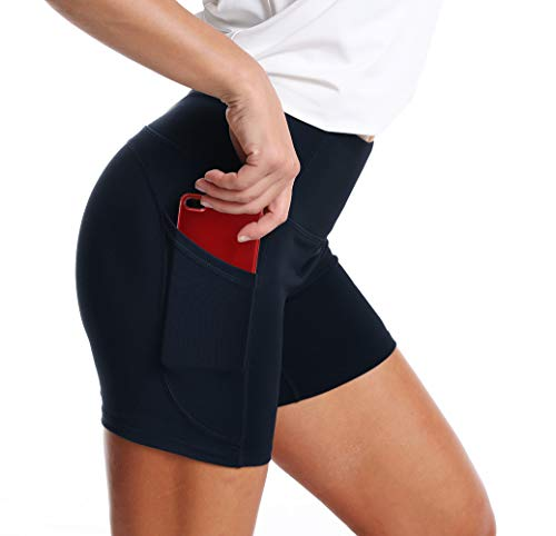 CFR Women/'s High Waisted Sports Shorts Yoga Pants Running Shorts for Workout Gym Fitness
