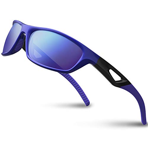Versol Polarized Sports Sunglasses for Men Women Cycling Running Driving Fishing Golf Baseball Sunglasses Durable ()