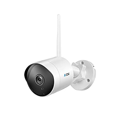 Outdoor Security Camera - HD 1080P Bullet Camera 2.4G Wireless IP66 Waterproof 50ft Night Vision Home Surveillance IP Camera Two-Way Audio, Motion Detection Alarm/Recording, Including 32GB SD Card from Tollar