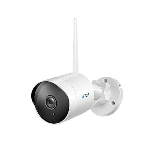 Outdoor Security Camera – HD 1080P Bullet Camera 2.4G Wireless IP66 Waterproof 50ft Night Vision Home Surveillance IP Camera Two-Way Audio, Motion Detection Alarm/Recording, Including 32GB SD Card