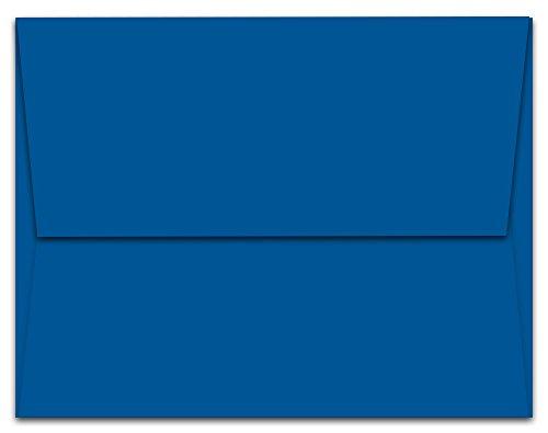 """50 Cobalt Blue A2 Envelopes - 5.75"""" x 4.375"""" - Square Flap"""