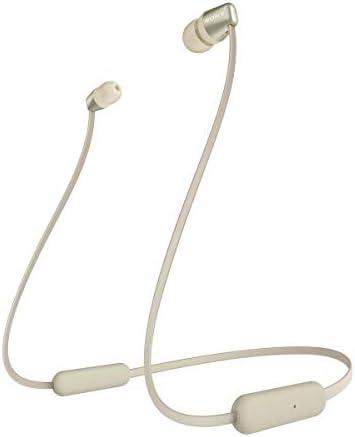 Sony WI C310 Ecouteurs Intra Auriculaires Bluetooth sans Fil Style Tour de Cou à Finition Métal Bleu