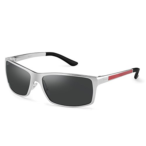 Men's Women's UV400 Polarized Driving Sports Metal Frame ()