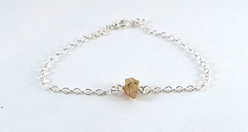Captive Raw Topaz Bracelet Sterling Silver (Large)