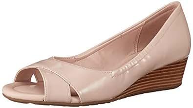Cole Haan Women's Melina Open Toe Wedge Beige Size: 8