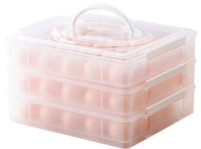 Aojia 3 Tier Plastic 75 Eggs Holder Eggs Airtight Storage Container, ()
