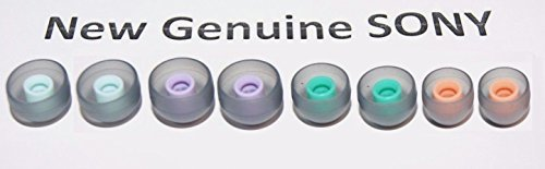 Genuine Replacement Ear tips sleeves for SONY Swimming Earbuds, Set of Small, Medium, Large, X-Large for NW-WS413, WS414, W273, W273S, WS613 Waterproof Earphones - Total 8 pieces (4 Pairs)