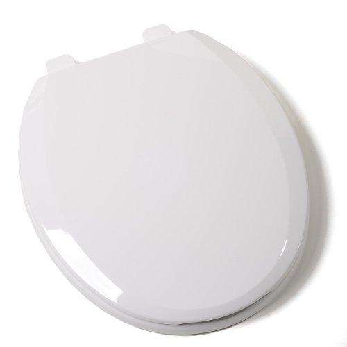 Comfort Seats C1B3R7S-00 EZ Close Standard Plastic Toilet Seat, Round, White