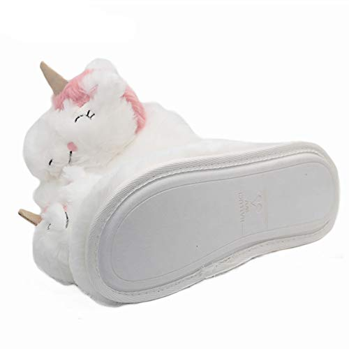 Unicorn Scarpe Antiscivolo Ytdoo Donne Animale Invernali Interno Adorabili Casa Domestico Caldi Peluche Fumetto Le Da Pantofole Morbidi 3d Per 38~39 Calza Novità Pantofola 8816gqCE