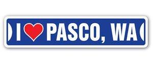 (Chili Print I LOVE PASCO, WASHINGTON Custom Street Signs - Sticker Graphic Personalized Custom Sticker Graphic)