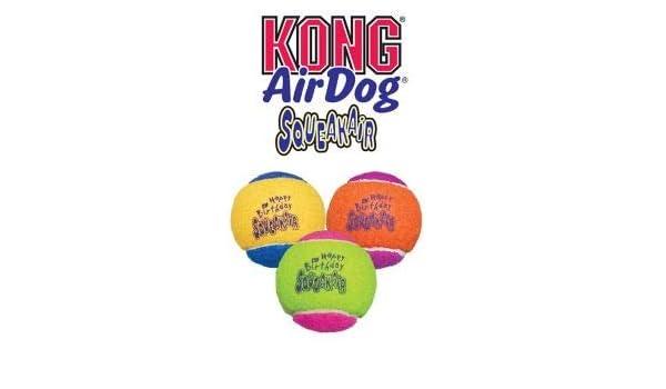 Kong SqueakAir Pelota de cumpleaños juguete para perro (20 ...