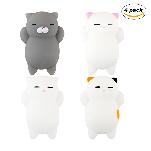 Dog Costume Reddit (Squishy Toys MerryMore Kawaii Slow Soft Rising Gift Squishy Cats Mini Cute Cat Fidget Toy Stress Relief Toys 4 Pack)